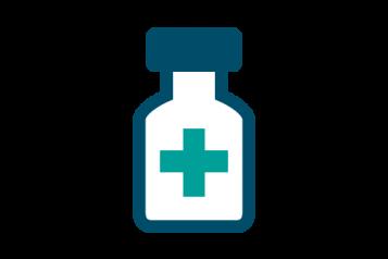 Infographic  of pill bottle