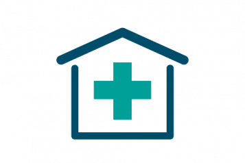 infographic of building with medical cross in it
