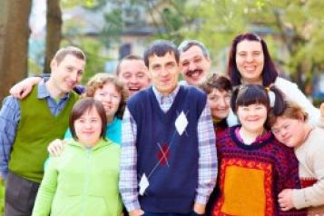 A group of adults with learning disabilities