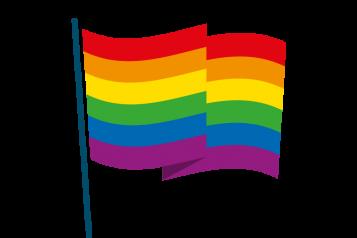 Infographic of LGBTQ flag