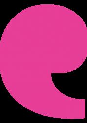 Pink speech mark