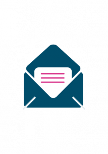 Infographic of a letter in an envelope